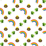 Set of St. Patrick's Day Seamless Patterns Perfect for wallpapers, pattern fills, web backgrounds, greeting cards Royalty Free Stock Photo