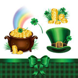 Set of St. Patrick's Day symbols, set of St. Patrick's Day icons Royalty Free Stock Photography