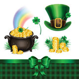 Set of St. Patrick's Day symbols, set of St. Patrick's Day icons Stock Photos