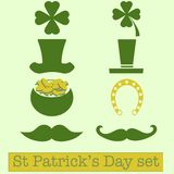Set of St. Patrick's Day symbols.  Vector illustration Stock Image