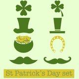 Set of St. Patrick's Day symbols.  Vector illustration Stock Image