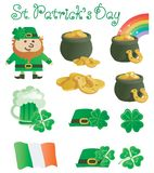 Set for St. Patricks Day Royalty Free Stock Photo
