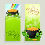 Set of St. Patricks Day Cards Royalty Free Stock Image