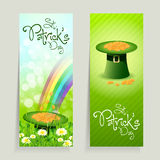 Set of St. Patricks Day Cards Stock Photography