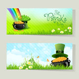 Set of St. Patricks Day Cards Stock Image