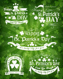 Set of St. Patricks Day decorative elements Stock Image
