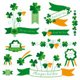 Set of St. Patricks Day design elements Royalty Free Stock Images