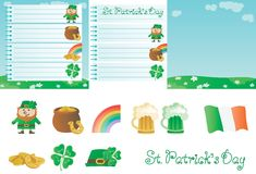 Set for St. Patricks Day Royalty Free Stock Images