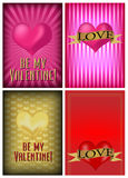 Set of St. Valentine's Day Card. Set of Four St. Valentine's Day Card Backgrounds - Vector Stock Photo