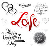 Set of St Valentines designs Stock Photos