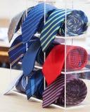 Set staczający się w górę szyja krawatów Fotografia Royalty Free