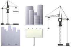 set stads- för konstruktion Arkivfoto