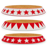 Set stage circus - ring (path save) Royalty Free Stock Photos