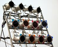 Set of Stage Lights Royalty Free Stock Photography