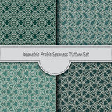 Set of stained geometric arabic seamless pattern Stock Images