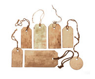 Set of stained tags Royalty Free Stock Photography