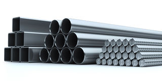 Set of stainless steel. Steel industry Royalty Free Stock Photos