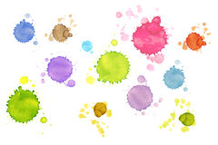 Set of stains of paint Royalty Free Stock Photos