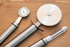 Set stali nierdzewnych kuchenni narzędzia Fotografia Stock