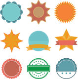 Set of stamp icons. Royalty Free Stock Photos