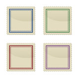 Set of stamp, square shape Stock Photography