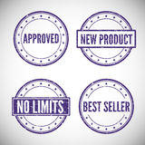 Set stamp for trade and business Royalty Free Stock Photos