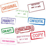 Set of Stamps. Set of multiple business stamps Royalty Free Stock Photography