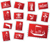 Set stamps - 70. Egypt. Set of 13 vector postage stamps for web Royalty Free Stock Image