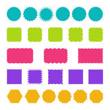 Set of stamps, badges and labels templates. Stock Photos