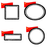 Set of stamps china. Set of grunge rubber stamps with the flag of China,  illustration Royalty Free Stock Photo