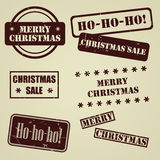 Set of stamps for Christmas holiday. Set of vector stamps for Christmas holiday Stock Photo
