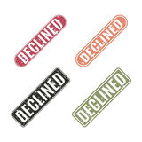 Set of stamps declined, vector illustration. Stock Photos