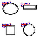 Set of stamps england. Set of grunge rubber stamps with the flag of United Kingdom,  illustration Royalty Free Stock Photography