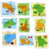 Set of stamps Stock Photos