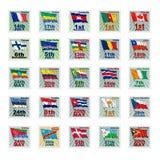 Set of  stamps Stock Photos