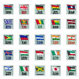 Set of  stamps Royalty Free Stock Photography
