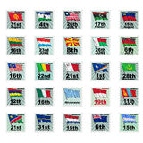 Set of  stamps Royalty Free Stock Images