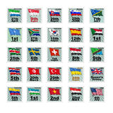 Set of  stamps Stock Image