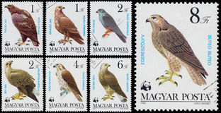 Set of stamps printed in Hungary shows Royalty Free Stock Photos