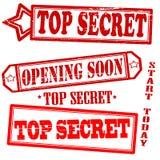 Set of stamps. With text top secret inside,  illustration Stock Image