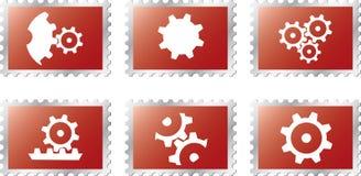 Set Stamps1 - 18. Gears Stock Photos
