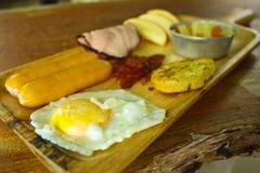 Set of standard breakfast Royalty Free Stock Images