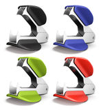 Set of staple remover different colors. On white background. 3d render image Stock Photography