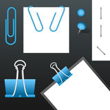 Set of Staples. Vector set of different kind of staples. The element are isolated Royalty Free Stock Photo
