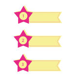 Set of  star banners. A simple  set of  banners, star banners Royalty Free Stock Image