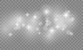 Set of Star burst and sparkles with glowing light effects. Sun flash with spotlight on transparent background. Vector illustration EPS 10 vector illustration
