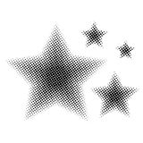 Set of Star different size in halftone. Stars icons for websites or applications isolated on white background. Vector. Illustration Stock Image