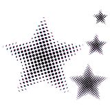 Set of Star different size in halftone. Stars icons for websites or applications isolated on white background. Vector. Illustration Stock Images