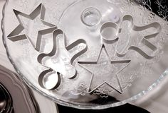 Set of Star and Ginger Bread Man Cookie Cutters Royalty Free Stock Image