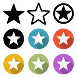 Set of star icons Royalty Free Stock Photography